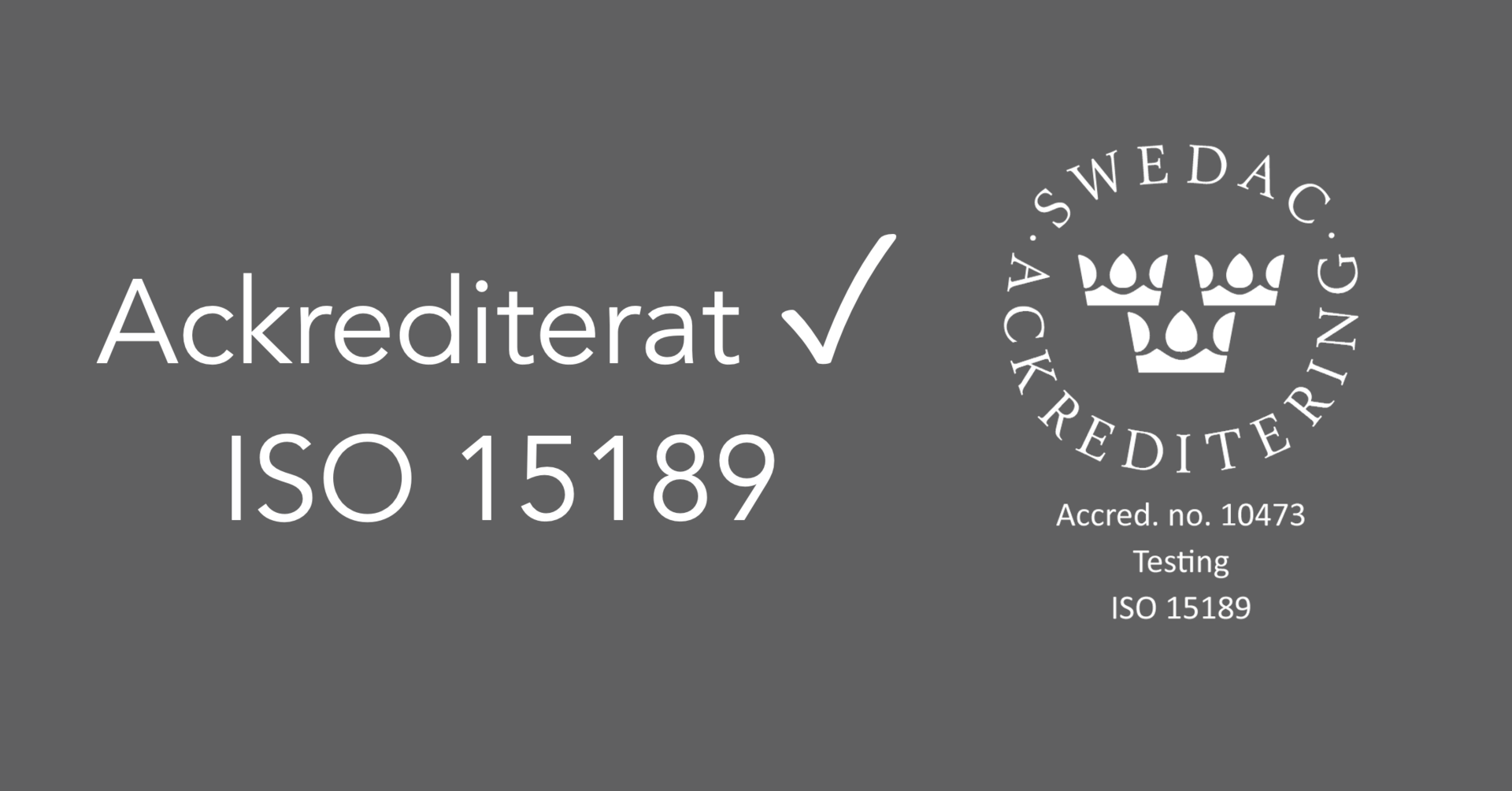 iCellate is the only Swedish company that holds an ISO 15189 certification within cancer diagnostics.